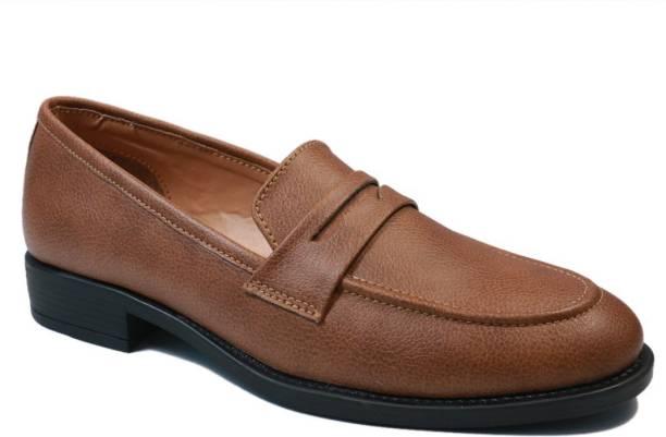 71da1ae76 Vegan Basics Vegan Basics Men's Chocolate Brown Faux Leather slip on  moccasins shoes Loafers For Men