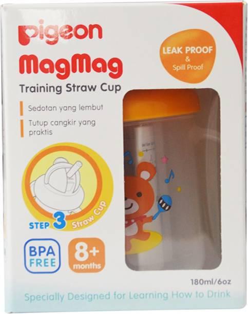 Pigeon MAGMAG TRAINING STRAW CUP (D-803N) (ORANGE)