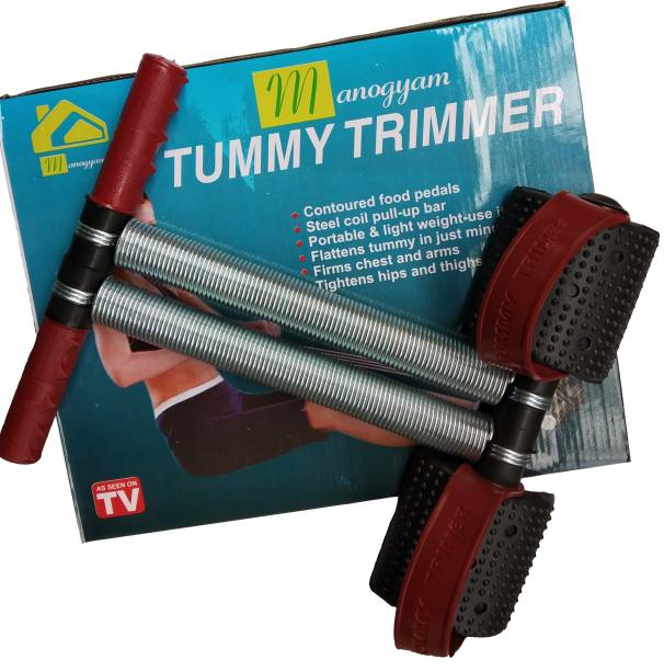 Manogyam RED BLACK Tummy Trimmer DOUBLE Steel Spring Burn Off Calories & Tone Your Muscles Ab Exerciser