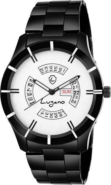 c120c0bc941 Lugano LG 1188 Orion White Dial With Clear Demonstration of Day   Date Watch  - For