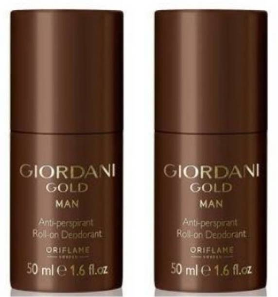 Oriflame Sweden GIORDANI GOLD MAN ANTI PERSPIRANT ROLL ON DEO 50ml ( PACK OF 2 ) Deodorant Roll-on  -  For Men