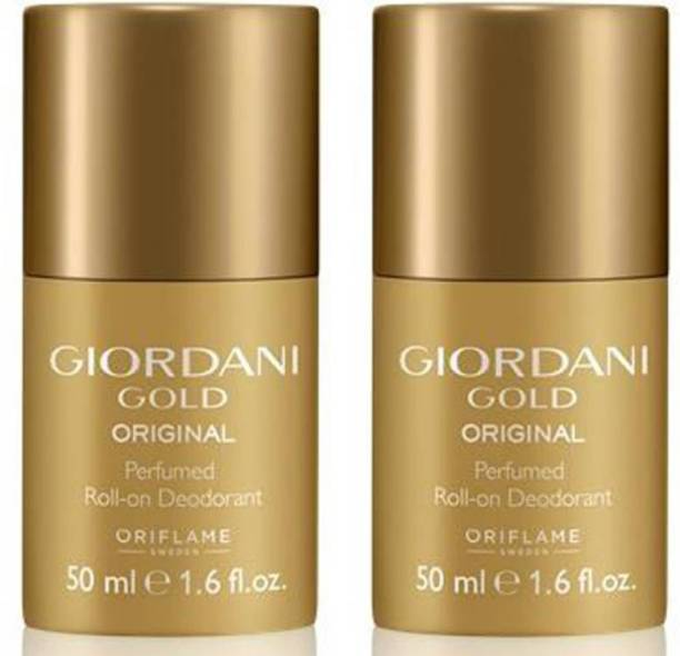 Oriflame Sweden GIORDANI GOLD ROLL ON DEODORANT 50 ml ( PACK OF 2 ) Deodorant Roll-on  -  For Women