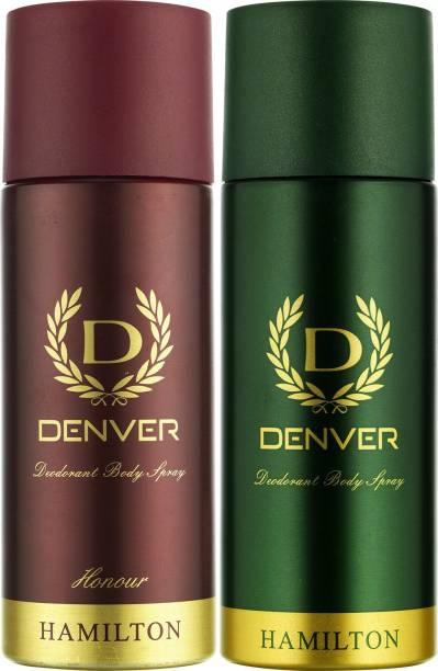 DENVER Hamilton and Honour Combo Deodorant Spray  -  For Men