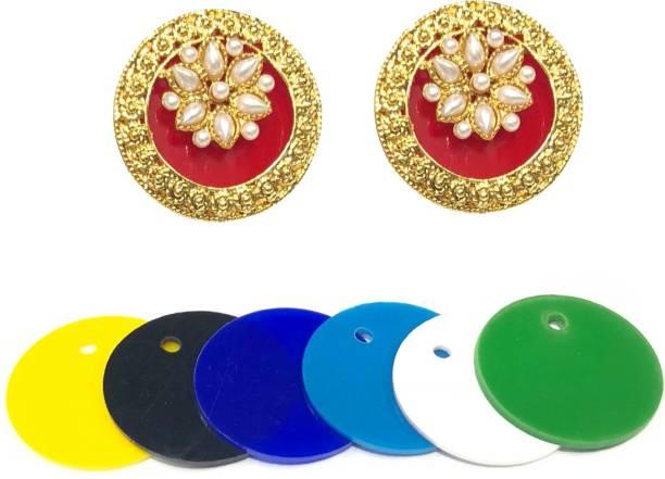 d403e3c89 SejalFashions Inter Changeable 5 in 1 Gold Plated Pearl Alloy Stud Earring
