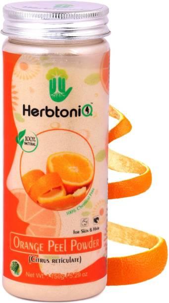 HerbtoniQ 100% Natural Orange Peel Powder For Face Pack and Hair Pack (Citrus reticulate)