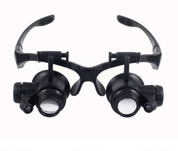a2fdc88944 SYGA Head Magnifier with 10X 15X 20X 25X Times The Four Groups of Lenses  LED Dual