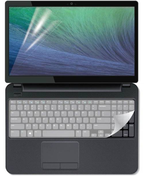 FineArts Combo of 15.6 inch Laptop Screen Guard and Key Guard Combo Set