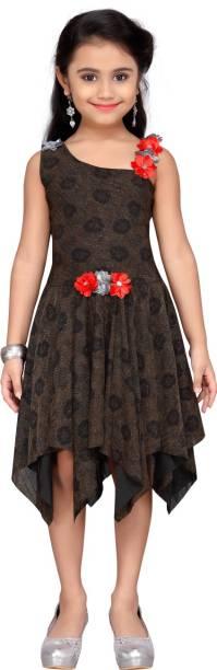 Aarika Girls Midi/Knee Length Casual Dress