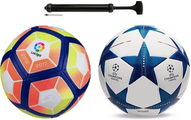 ALEN Star Blue Football Combo With Durable Air Pump Football Kit