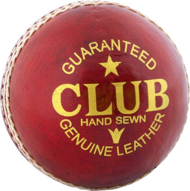 PSE Sports Leather Club Cricket Ball Red (2Part) Cricket Leather Ball