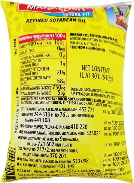Mahakosh Refined Soyabean Oil 1 L Pouch