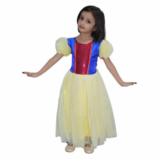 72a2c43be1bc5 Kaku Fancy Dresses Snow White Fancy Dress for kids,Fairy Teles,Story Book  Costume
