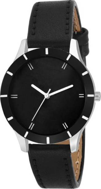 f2c9159bf5 Miss Perfect New Stylish Designer Black Leather Belt Watch For Girls & Women  ODCG-03