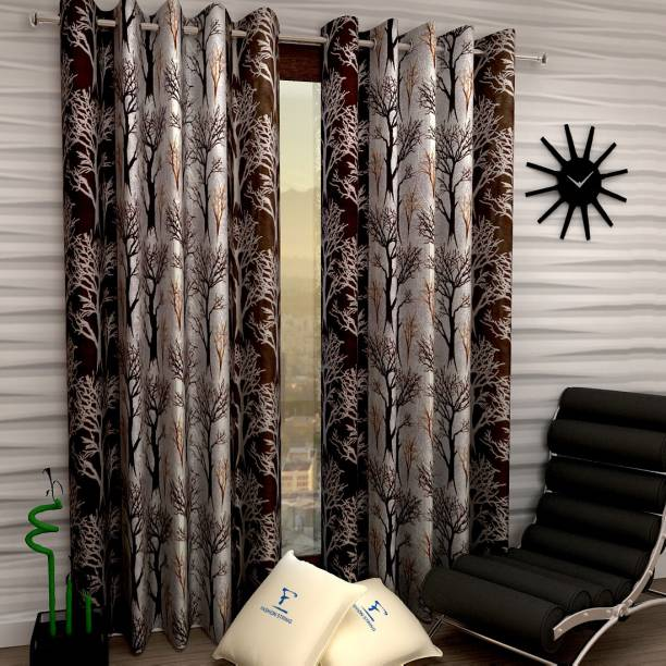 Fashion String 152 cm (5 ft) Polyester Window Curtain (Pack Of 2)