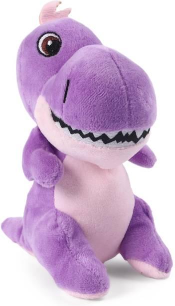 60cc341e7894 My Baby Excels Baby Dinosaur Plush Purple colour 19 cm - 19 cm