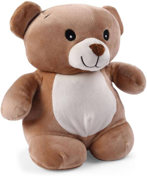 d7ccc3e7fb4 My Baby Excels Cute Teddy Bear Plush with Embroidery Eyes - Brown 28cm - 28  cm