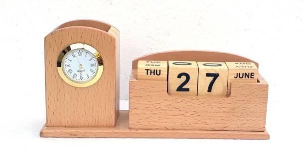 Shivom Crafts 2 Compartments Wooden WOODEN CALENDAR