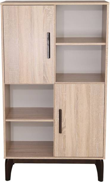 Woodness Engineered Wood Semi Open Book Shelf