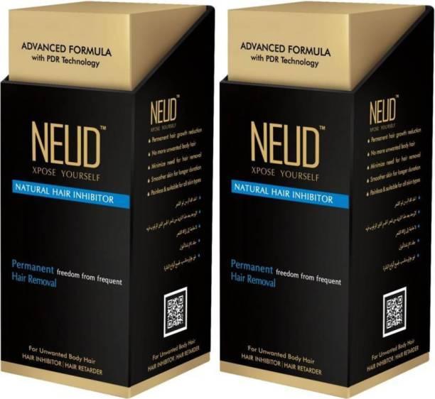 NEUD Natural Hair Inhibitor- (2 Packs) Permanent Hair Removal Cream (160 g) Cream