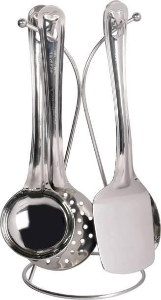 Crystal 1000482429 4 Pcs Grey Kitchen Tool Set