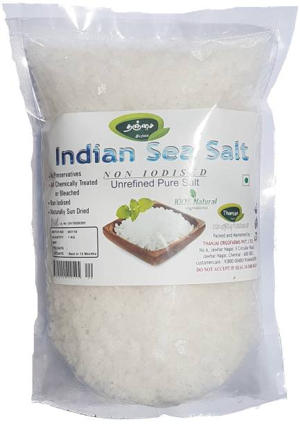 THANJAI NATURAL Thanjai Natural's Indian Non Iodised Sea Salt 1000grams Traditionally Made 100% Natural Sea Salt