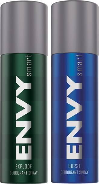 ENVY Explode 135ml & Burst 135ml Deodorant Spray  -  For Men