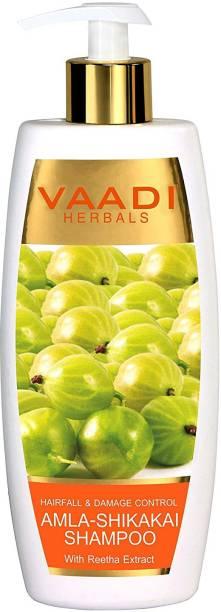 VAADI HERBALS Amla Shikakai Shampoo-Hairfall & Damage Control (350 ml)