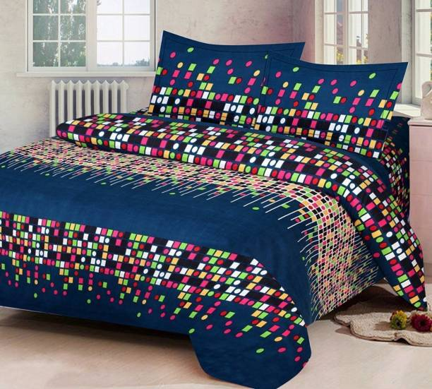 Rs Quality 140 Tc Polycotton Double Printed Bedsheet