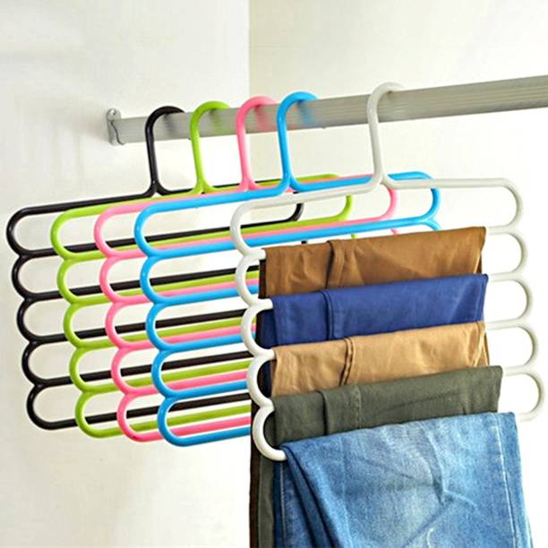 Anvel Multi Purpose Hanger - Tie Hanger - 5 Layer - Space Saver - High Quality Plastic - Pack of 5 Closet Organizer