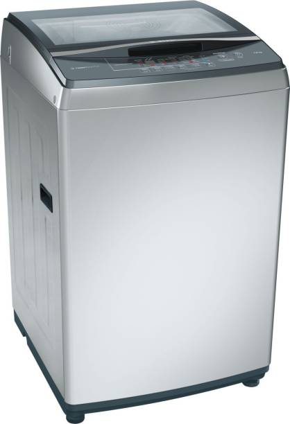 BOSCH 7 kg Fully Automatic Top Load Silver