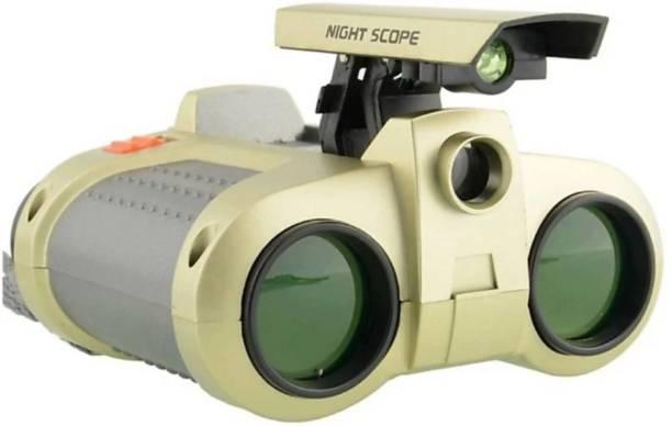 SANJARY Night Scope Binocular with Pop-Up Light for Kids Binoculars (4 mm, Golden) Binoculars