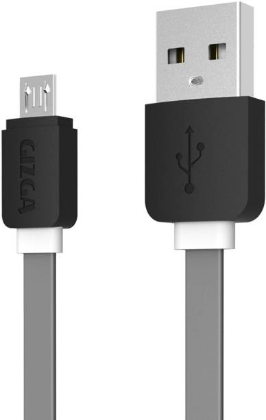 Gizga Essentials Tangle-Free (1 meter/ 3.2 Feet) Fast Charging 1 m Micro USB Cable
