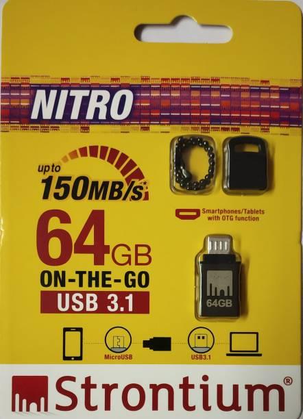 Strontium OTG USB 3.1 150MB/s 64 GB Pen Drive