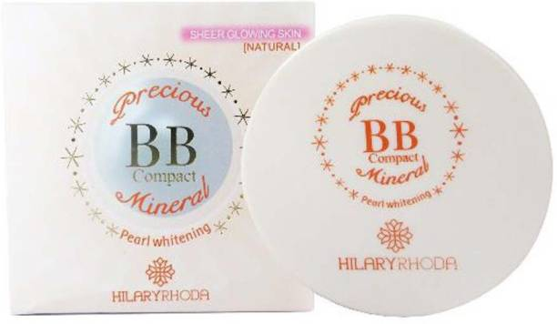 Hilary Rhoda Precious BB Compact Mineral ~ Pearl Whitening Sheer Glowing Natural Skin With Vitamin E ~ Color-04 Compact