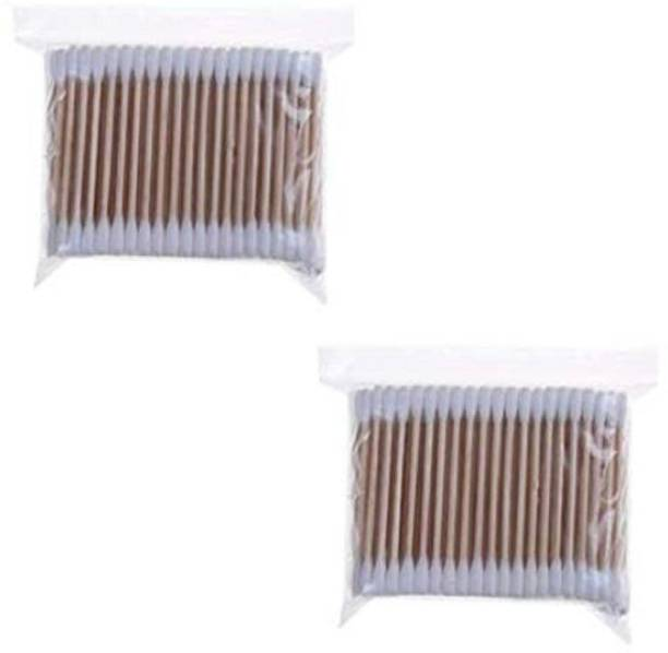 Hua You Wooden Stick Double Head Tips Natural Pure Cotton Swabs Ear Cleaning Picks Buds