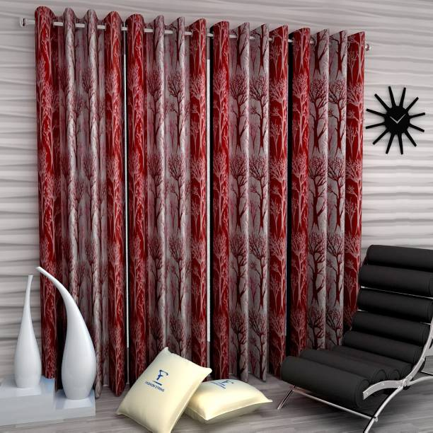Fashion String 213 cm (7 ft) Polyester Door Curtain (Pack Of 4)