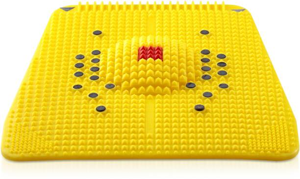 IBS ACUPRESSURE MAGNETIC FOOT RELIEF MAT BLOOD CIRCULATION MASSAGER STRESS PAIN RELIEF MASSAGE THERAPY Yellow 45 mm Accupressure Mat