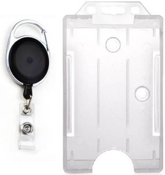 findstuff plastic id badge holder - Id Card Holder