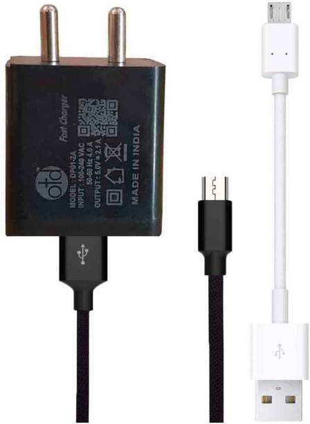 OTD Wall Charger Accessory Combo for Infinix Hot 9, Realme C11, Vivo Z1 Pro, Infinix Hot 9 Pro, Realme C3