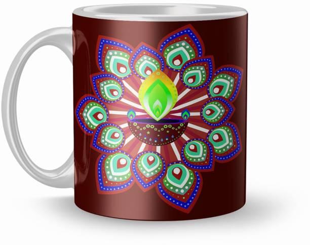 Apoorva Printed 320ml Ceranic Coffee Mug For Diwali Gift