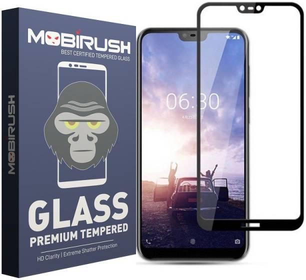 MOBIRUSH Edge To Edge Tempered Glass for Nokia 6.1 Plus