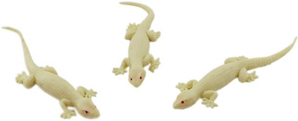 Tootpado Realistic Rubber Lizard Toys 5 inch House Gecko (Brown) - 1a244 - Pack of 3