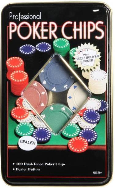 SERVEUTTAM 100 Chips Professional Poker Set