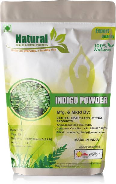 Natural Health and Herbal Products Natural Indigo Leaves Powder (Indigofera Tinctoria) For hair care and Herbal Colorant - Pack of 1