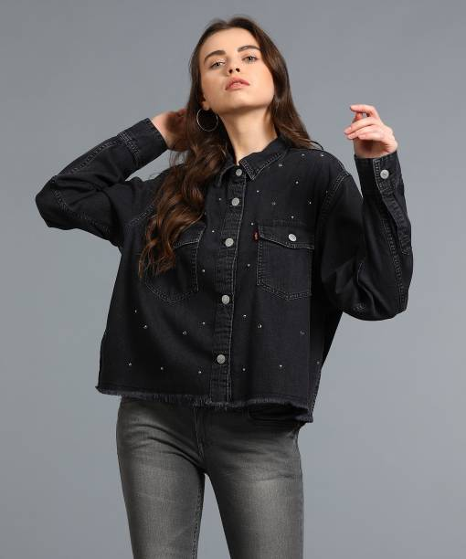 e1e6a37b30297 Black Shirts For Women - Buy Black Shirts For Women online at Best ...