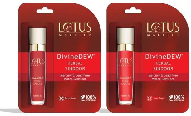 LOTUS make up DivineDEW HERBAL SINDOOR (Rosy Blush & Love Drop)