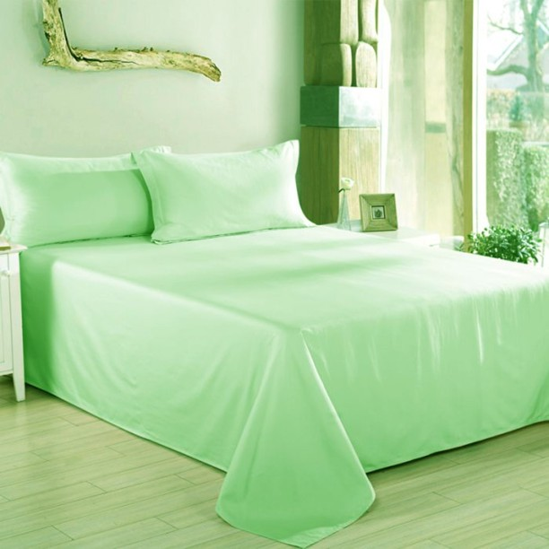 Charming Linenwalas 300 TC Silk Double King Plain Bedsheet