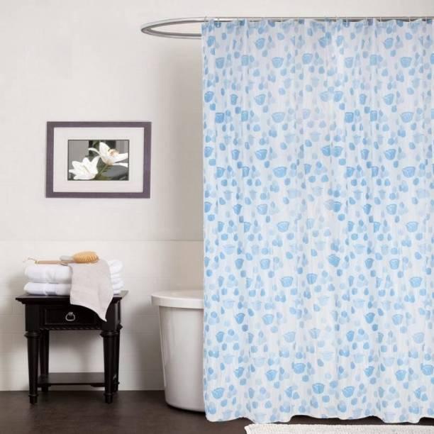 CASA FURNISHING 220 Cm 7 Ft PVC Shower Curtain Single