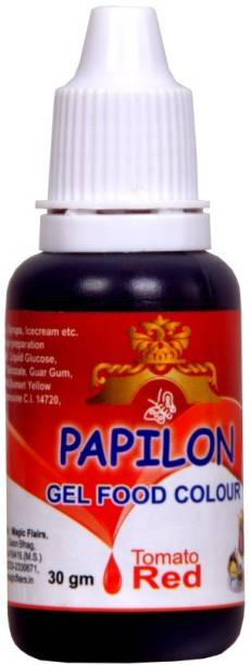 PAPILON Concentrated Gel Food Colour : TOMATO RED 30GM Red