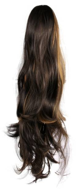 BLOSSOM Clutch  Extension brown and gold highlighted Hair Extension